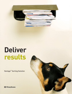 Deliver results Vantage Sorting Solution