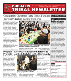 TRIBAL NEWSLETTER CHEHALIS