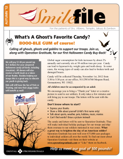 What's A Ghost's Favorite Candy? BOOO-BLE GUM of course! AUTUMN '12