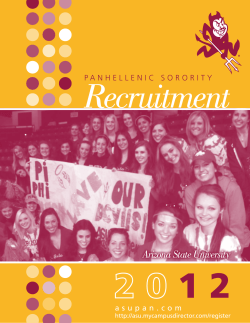 Recruitment 1 2 Arizona State University