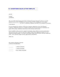 14.1 ADVERTISING SALES LETTER TEMPLATE