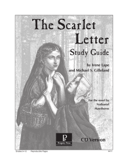 The Scarlet Letter Study Guide CD Version