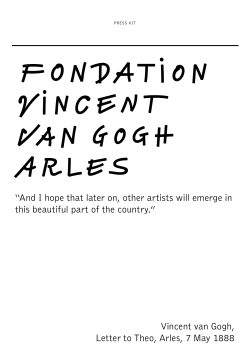 """And I hope that later on, other artists will emerge... this beautiful part of the country."" Vincent van Gogh,"
