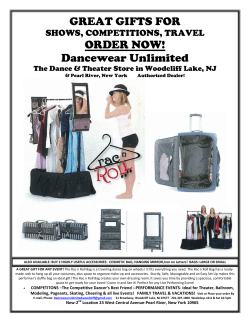 GREAT GIFTS FOR  ORDER NOW! Dancewear Unlimited