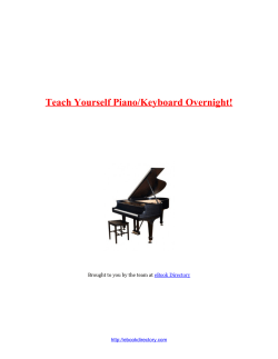 Teach Yourself Piano/Keyboard Overnight! t eBook Directory