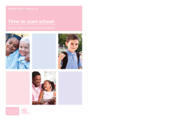 Time to start school Family guide to starting Kindergarten