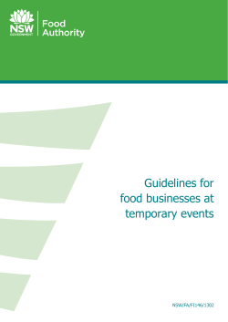 Guidelines for food businesses at temporary events NSW/FA/FI146/1302