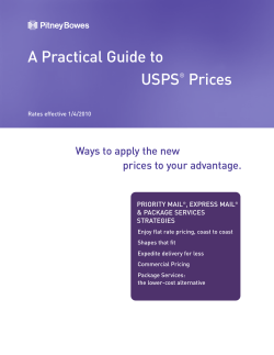 A Practical Guide to USPS Prices Ways to apply the new