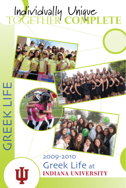 GREEK LIFE Individually Unique 2009-2010 Complete