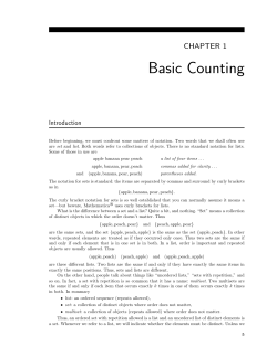 Basic Counting CHAPTER 1 Introduction