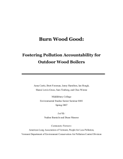 Burn Wood Good: Fostering Pollution Accountability for Outdoor Wood Boilers