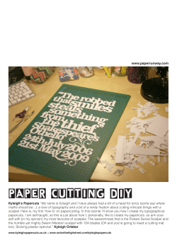 PAPER CUTTING DIY