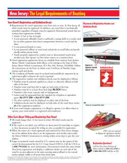 New Jersey: The Legal Requirements of Boating