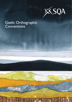 Gaelic Orthographic Conventions