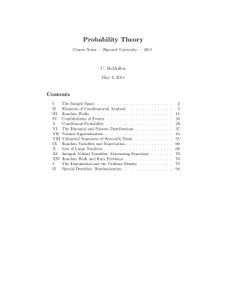 Probability Theory Contents C. McMullen May 4, 2011