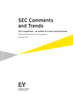 SEC Comments and Trends