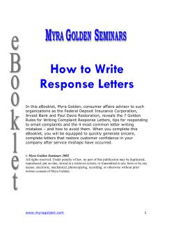 How to Write Response Letters