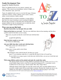 Family Development Time A to Z by Sandra Boynton