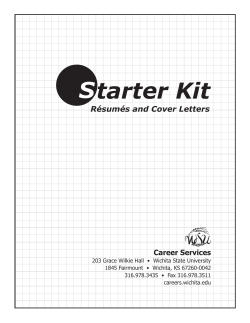 tarter Kit S Résumés and Cover Letters Career Services