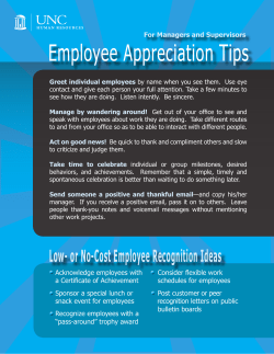 Employee Appreciation Tips For Managers and Supervisors