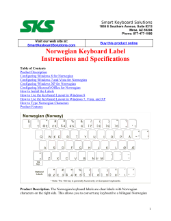 Norwegian Keyboard Label Instructions and Specifications Smart Keyboard Solutions