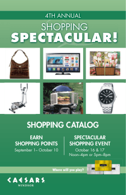 SPECTACULAR! SHOPPING SHOPPING CATALOG 4TH ANNUAL