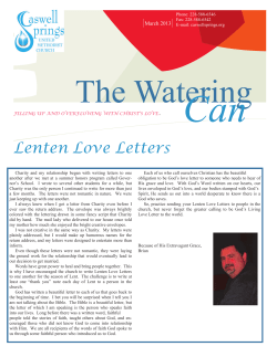 Can  The Watering  Lenten Love Letters March 2013