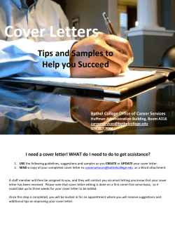 Cover Letters  Tips and Samples to Help you Succeed