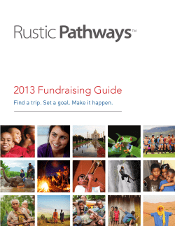 2013 Fundraising Guide 1