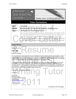 Example 4 Cover Letter Tutor Corrections
