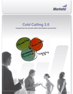 Cold Calling 2.0 Build a Sales Machine