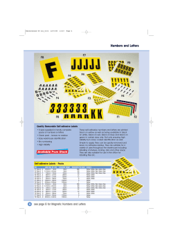 Numbers and Letters Quality Removable Self-adhesive Labels