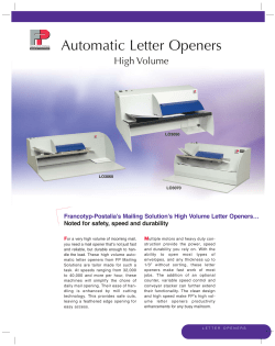 Automatic Letter Openers High Volume Francotyp-Postalia's Mailing Solution's High Volume Letter Openers…