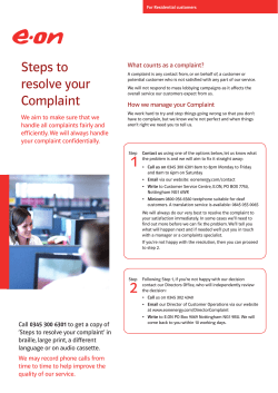 Steps to resolve your What counts as a complaint?