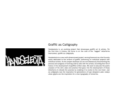 Graffiti as Calligraphy