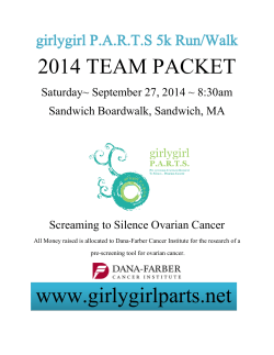 2014 TEAM PACKET  girlygirl P.A.R.T.S 5k Run/Walk