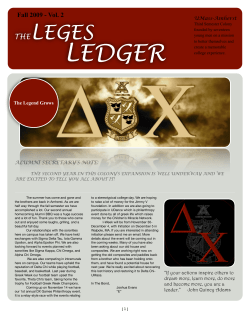 LEDGER LEGES THE Fall 2009 - Vol. 2
