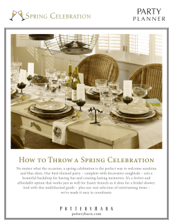 PARTY S C How to Throw a Spring Celebration