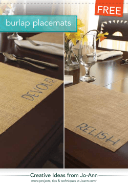 FREE burlap placemats Creative Ideas from Jo-Ann
