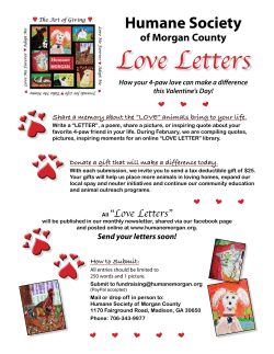 Love Letters Humane Society of Morgan County