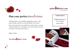 love Plan your perfect photo letter.