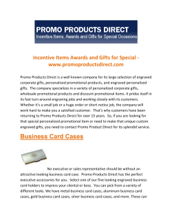 Incentive Items Awards and Gifts for Special - www.promoproductsdirect.com