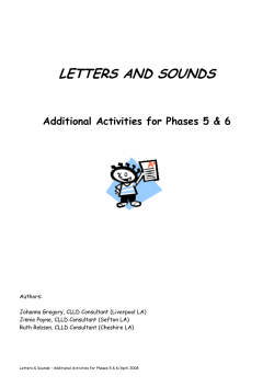 LETTERS AND SOUNDS Additional Activities for Phases 5 & 6