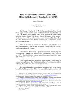 First Monday at the Supreme Court, and a