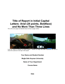 Title of Report in Initial Capital Letters: Arial (24 points, Boldface)