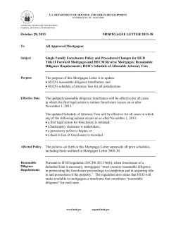 October 28, 2013 MORTGAGEE LETTER 2013-38 All Approved Mortgagees