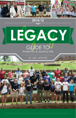 GUIDE TO 2014/15  Fraternity & Sorority Life