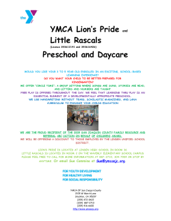 YMCA Lion's Pride Little Rascals Preschool and Daycare