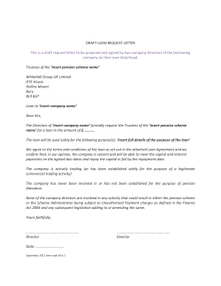 DRAFT LOAN REQUEST LETTER company on their own letterhead.