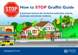 How to Graffiti Guide STOP A practical resource for territorial authorities, schools,